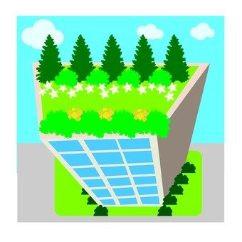 Greening the roof of the building