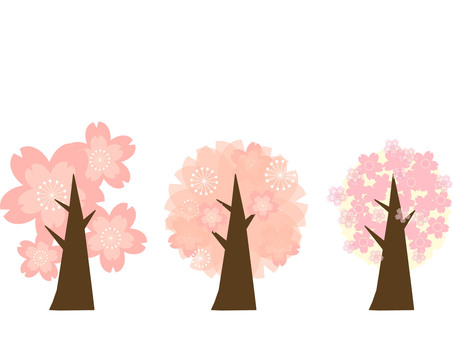 Three kinds of cherry trees