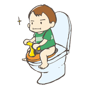 Toilet training boys hand-painted