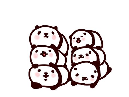 3段重ねパンダ