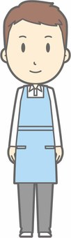 Apron owner - front - whole body
