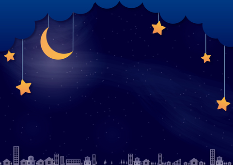 Picture-story-style night sky