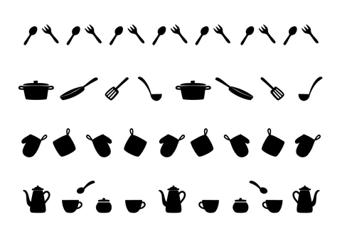 Kitchen line (silhouette)