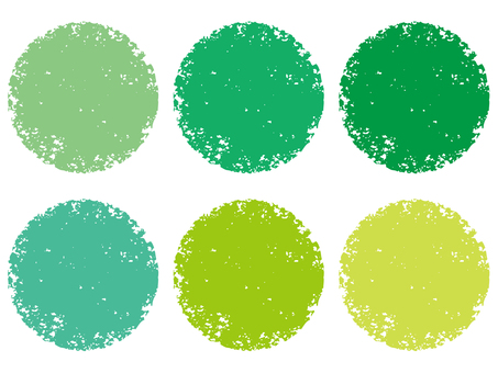 Stamp circle set _ green series _ cs