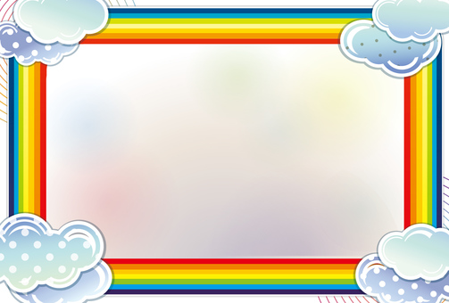 Rainbow and cloud greeting card
