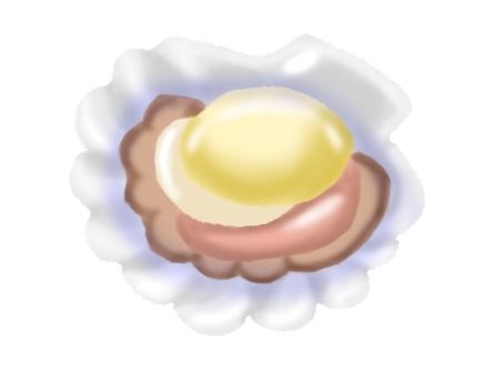 ホタテのバター醤油焼き(主線なし)