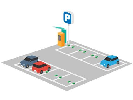 Coin parking (with car)