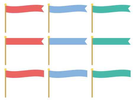 Horizontal flag set