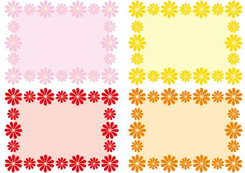 框架 - 花框架 - 溫暖的顏色
