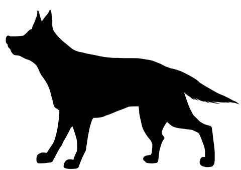 Shepard dog silhouette