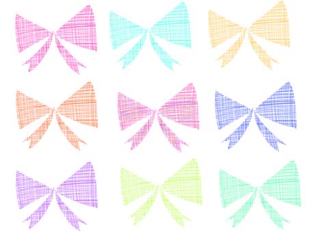 Hand-painted ribbon material