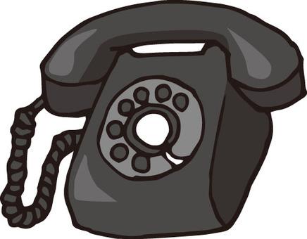 Home electronics (telephone · retro black)