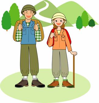 People who do summer mountain climbing