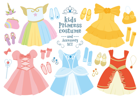 princess costume set