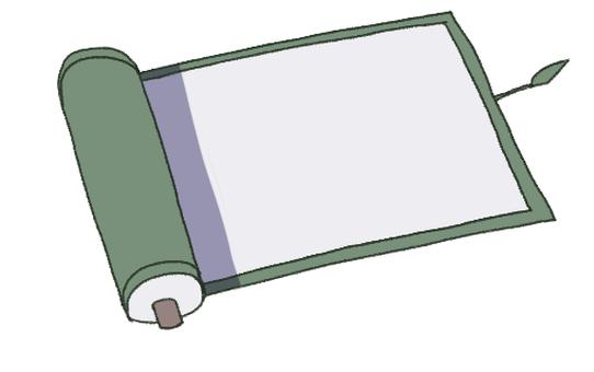 捲軸(空白紙)