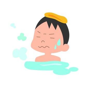 A person taking a bath 02