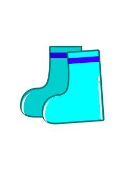 Blue children's boots