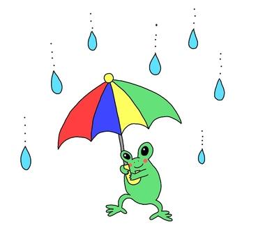 Frog and umbrella
