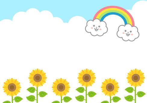 Rainbow Sunflower Message