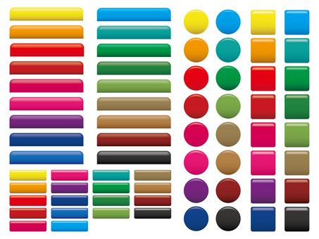 Web button & bar 01 18 color set