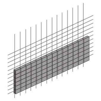 Block fence (half rebar)