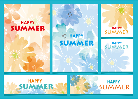 Summer card set