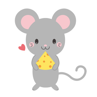 Cute cheese with cheese