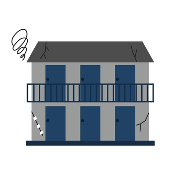 Illustration apartment of moving