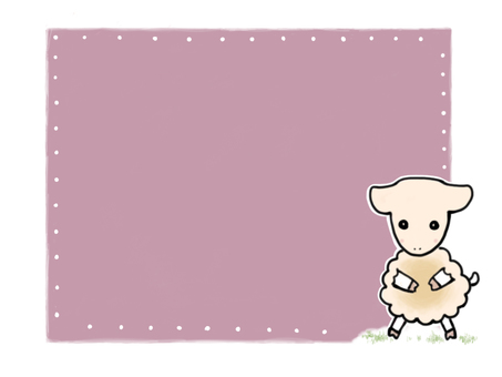 Hand-drawn Frame Cutting Picture Wind Sheep
