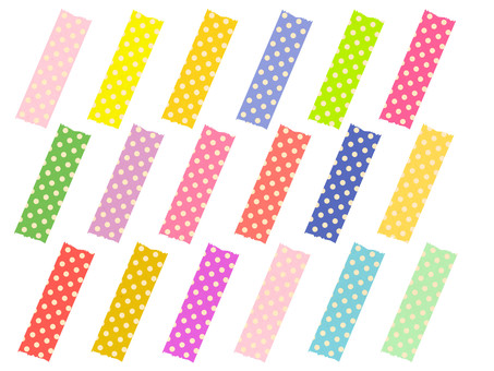 Musted wind polka dots