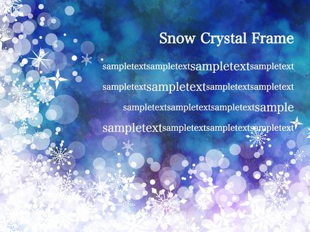 Snow crystal frame ver 12