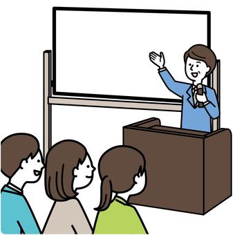 Like a workshop (white board)