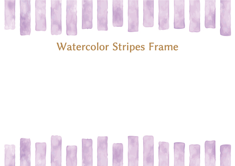 Watercolor wind stripe frame 4