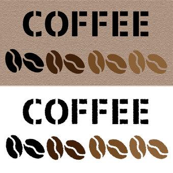 Coffee bean material