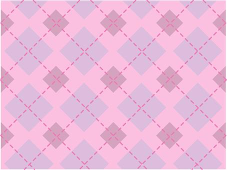 虛線檢查 - 粉紅色