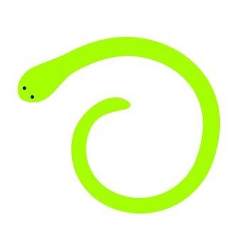 Simple snake (green)
