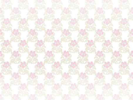 Rose pattern background on white background 6