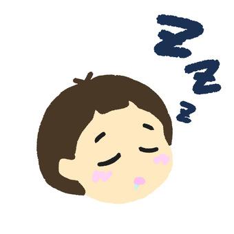 Sleeping girl left