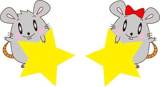 一對老鼠加上一個明星