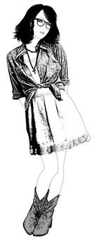 여성 일러스트 50