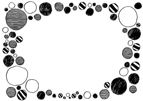 Round hand-drawn frame