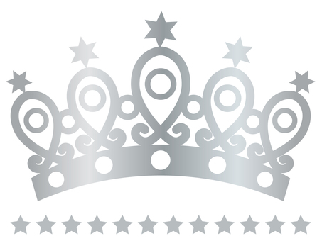 Tiara (star · silver)