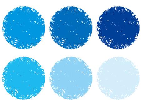 Stamp circle set _ blue series _ cs