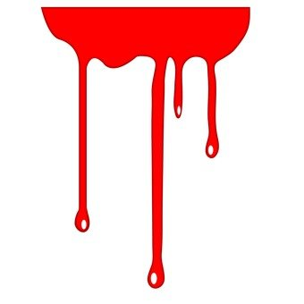 Dangling paint red