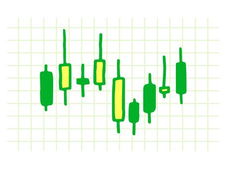 股票圖表_綠色