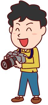 남성 사진 작가의 일러스트