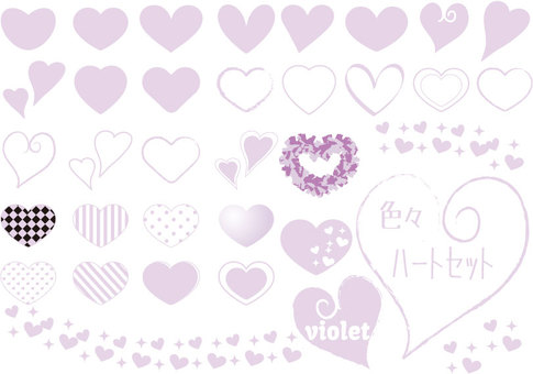 Various heart sets