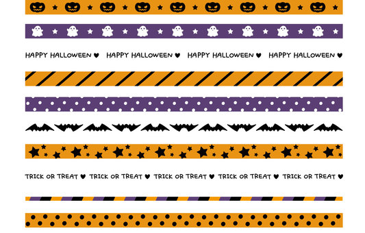 Halloween masking tape style material