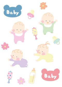 Baby illustration set 2