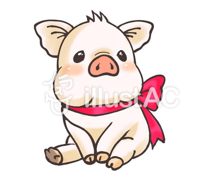 かわいい子豚イラスト No 1174193無料イラストならイラストac